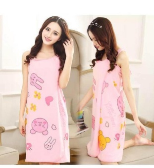 Sexy Colorful Wearable Soft Bath Robe Dressing Gown Wrap DryingBath Towel Wash Skirt For Womens Ladies- Style 3