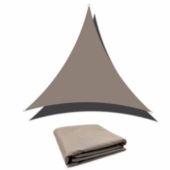 Shade Sail Triangle 3mx3mx3m Waterproof High Density With Grommets UV Block Canopy - intl