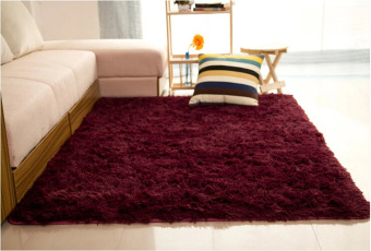 Shaggy Anti-skid Carpets Rugs Floor Mat/Cover 80*120cm Claret-Red