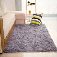 Shaggy Anti Skid Carpets Rugs Floor Mat Cover 80120cm Grey