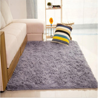 Shaggy Anti-skid Carpets Rugs Floor Mat/Cover 80*120cm Grey