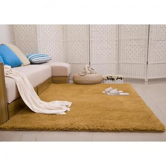 Shaggy Anti-skid Carpets Rugs Floor Mat/Cover 80x120cm(Khaki) ...