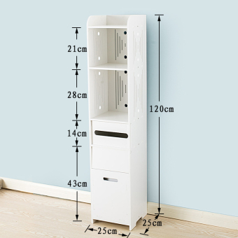 Shelf bathroom Waterproof Floor closet side cabinet