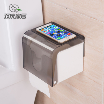 Shelf pumping tray box punched bathroom tissue box toilet paper