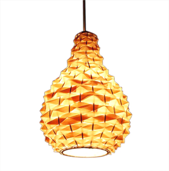 Shifan Hand Made Pineapple Bamboo Chandelier Restaurant CreativePendant Lights With 5W E27 LED Light Bulb 2229 Rattan Lamp WarmLight (2800-3200K) Price Philippines