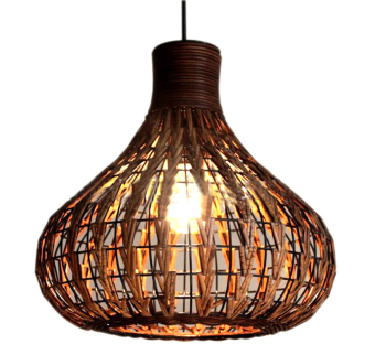 Shifan Rattan lamp LED Pendant Lights With E27 Light Blub ZP3532Chinese Hand-woven Chandelier Warm Light (2800-3200K) Price Philippines