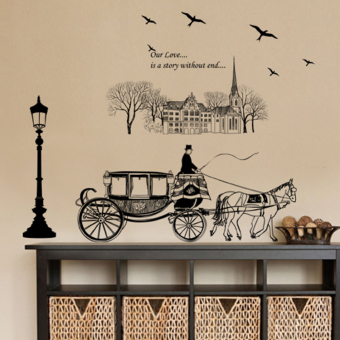 Shishang American living room bedroom wall adhesive paper