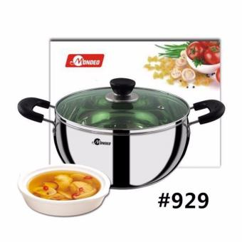 SHOP AND THRIFT Mondeo Casserole Cooking Pot stew Pot StainlessSteel 18cm Diameter