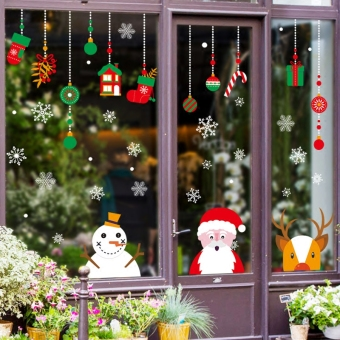 Shop glass window decorative stickers glass stickers wall adhesive paper