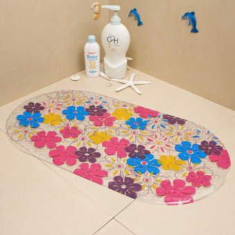 Shower room shower with a suction cup bath mat bathroom PVC anti-slip mat