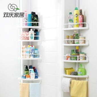 Shuangqing bathroom punched toilet multi-layer storage rack shelf
