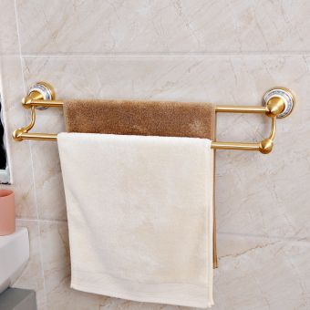 Shuangqing punched double rod bathroom towel rack