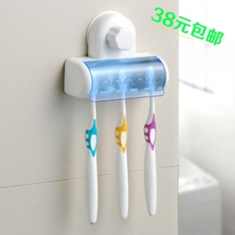Shuangqing strong suction cup storage sucker toothbrush holder toothbrush box