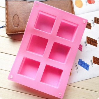 Silicone 6 Cavity Rectangle Soap Cake Ice Mold Mould Tray For Homemade Craft Diy - intl Price Philippines