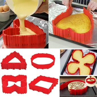 Silicone Cake Mold Cake Pan Magic Bake Snake DIY Baking Mould Tools- intl