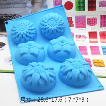 Silicone flower silicone cake pudding jelly soap Mold