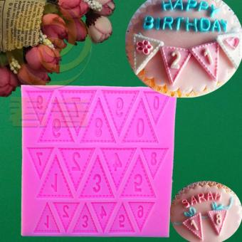 Silicone lettered with numbers Pearl cake mold banner