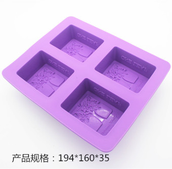 Silicone round rectangular food silicone mold tree