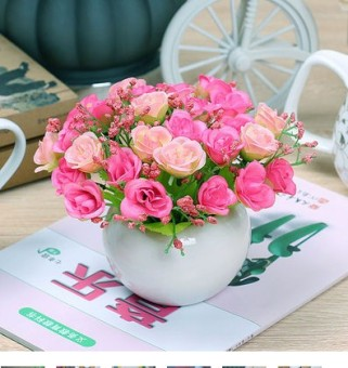 Silk living room small pot plant artificial flowers imitation flowers