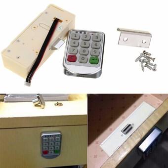 Silver Metal Digital Electronic Password Keypad Number Cabinet Code Locks - 3