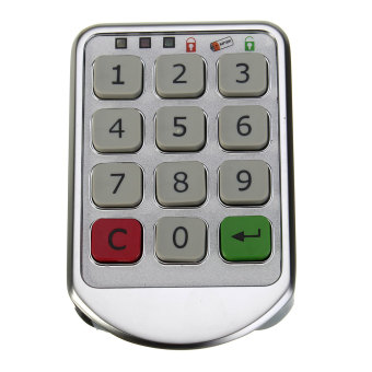 Silver Metal Digital Electronic Password Keypad Number Cabinet Code Locks - 4