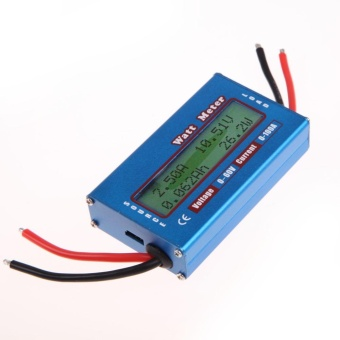 Simple DC Power Analyser Watt Volt Amp Meter 12V 24V Solar Wind Analyzer - intl