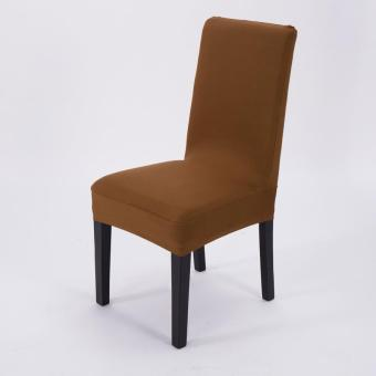 Simple Plain Elastic Dining Chair Cover