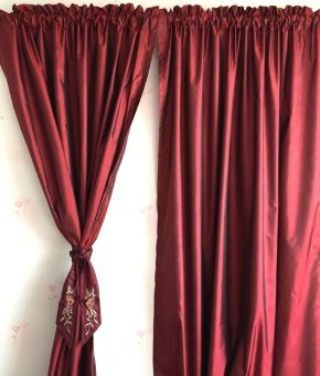 Simple Solid color bedroom living room blackout curtains half-curtain
