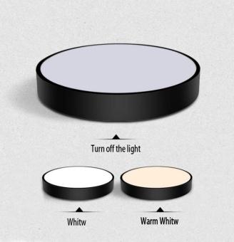 Simple Style Ceiling Lamps Living Room Bedroom Balcony CorridorsEnergy-Saving LED Diameter 23cm LED Warm Light (Black) - 3