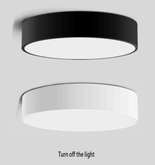 Simple Style Ceiling Lamps Living Room Bedroom Balcony CorridorsEnergy-Saving LED Diameter 23cm LED Warm Light (Black) - 4