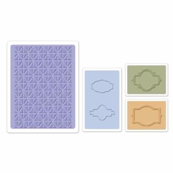 Sizzix - Embossing Folders - Jar Labels Set