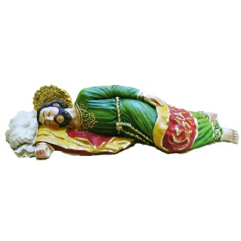 Sleeping Saint St. Joseph 30cm / 12 Inches Big Statue with gift box (Green) Religious Item (Made of Fiberglass Resin) by Everything About Santa (Christmas decoration and gift suggestion)