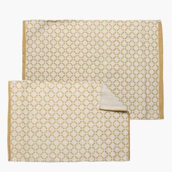 Sm home 2 piece geometric floor mat yellow lazada ph - Yellow kitchen floor mats ...