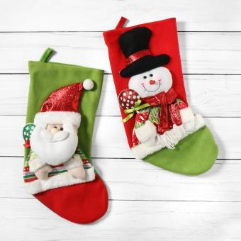 SM Home Santa Claus and Snowman Christmas Stockings (Set of 2)