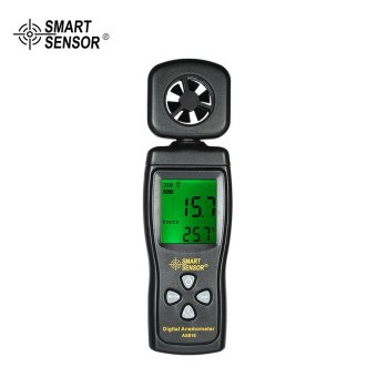 SMART SENSOR Mini Anemometer LCD Digital Wind Speed Meter AirVelocity Temperature Measuring with Backlight.