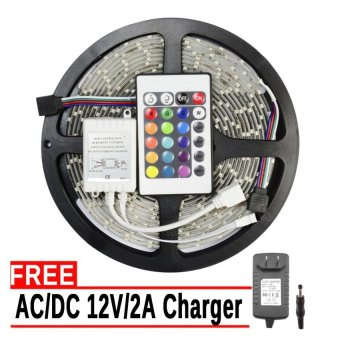 SMD 3528 IP20 LED Strip Lights 12V Multicolor with Free 12V Charger