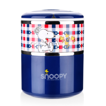 Snoopy large capacity portable pot student Fast Food Box insulated container