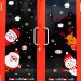 Snow Cartoon Christmas decorative welcome to Sticker wall adhesive paper