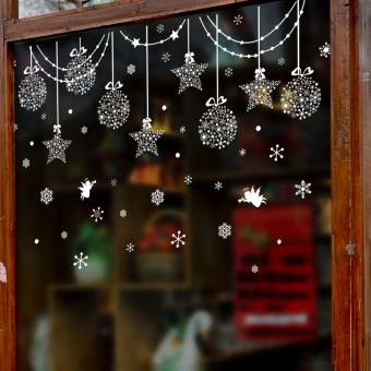 Snow Christmas holiday shop window sticker adhesive paper