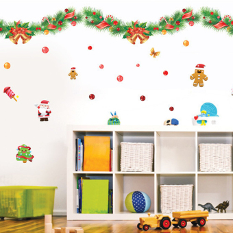 Snow New Year Christmas decorations ornaments wall sticker