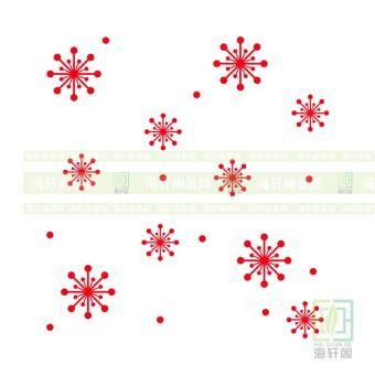 Snowflake Christmas New Year's Day shop window sticker wall adhesive paper