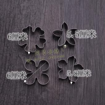 Snowflake cookie flower stainless steel cutter