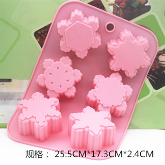 Snowflake silicone cake cold system soap handmade soap HIGH-TEMPERATURE resistant Mold