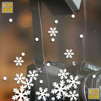 Snowflake sticker mall shop window stickers glass adhesive paper