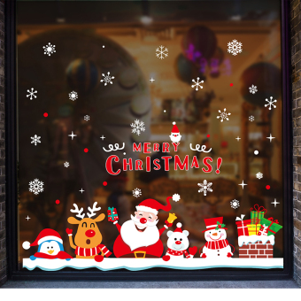 Snowflake window glass window Christmas old wall adhesive paper