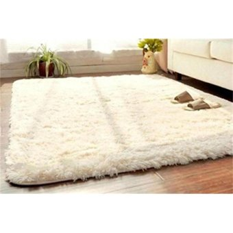 Soft Fluffy Rugs Anti Skid Shaggy Rug Dining Room Home Bedroom Carpet Floor Mat - intl