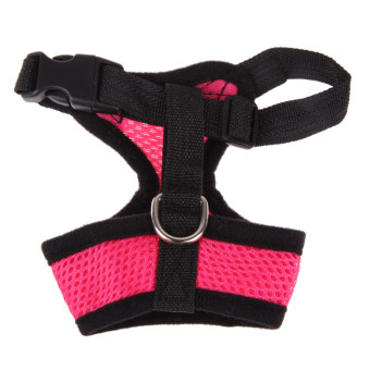 Soft Mesh Dog Harness Pet Puppy Cat Clothing Vest Pink XS
