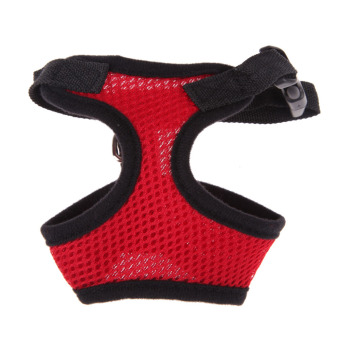 Soft Mesh Dog Harness Pet Puppy Cat Clothing Vest Red S - 5