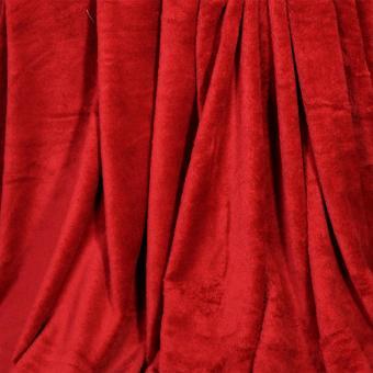 Soft Warm Reversible Queen Size Fleece Throw Blanket Bed Mat Plain Color Design With Pocket - 4