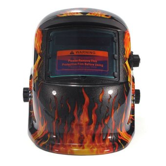 Solar Auto Darkening Welding Helmet Mask Tool UV/IR Protect Black/Yellow - intl - 4